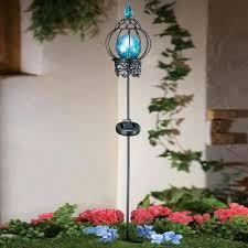 solar stake lights outdoor blue solar garden lights blue solar lights outdoor