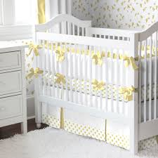 Bedding For Mini Crib by Polka Dot Crib Bed Skirt Creative Ideas Of Baby Cribs