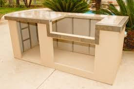 riveting outdoor kitchen island frame kits with brushed stainless