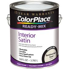colorplace sundrenched sand ready mix satin interior paint 1