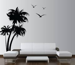 White Tree Wall Decal Nursery by Palm Coconut Tree For Palm Room Mural Wall Will Be Painted