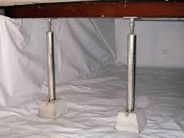 repairing sagging floor joists u0026 girders in your crawl space