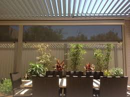 aluminium framed louvre roof with patio blinds project fit u0027s in