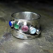 mothers ring 6 stones lavender cottage jewelry sterling silver s ring with up