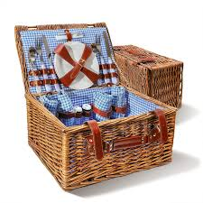 picnic basket set for 4 wicker 4 person picnic basket set free shipping on orders