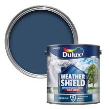 dulux weathershield exterior oxford blue gloss wood u0026 metal paint