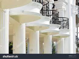 balcony pillars archaic building stock photo 21278716