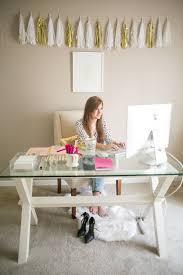 Pottery Barn Desk White Office Inspiration Via Nous Decor Home Office Pinterest