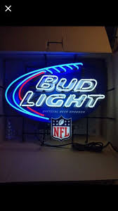 bud light nfl neon sign bud light nfl neon beer sign budlight collectibles in pearland tx