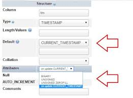 varchar date format php automatically storing last insert updating time of record in mysql