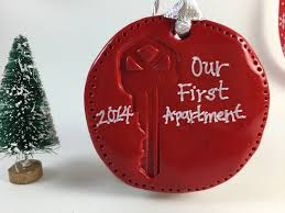 our or my apartment or home key ornament