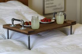 Breakfast In Bed Table by Rustic Industrial Diy Breakfast Over The Bed Tray Table Made From