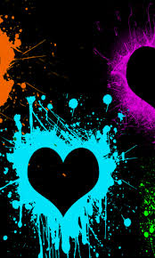 colors splash screenheaven color splash hearts paint desktop and mobile background