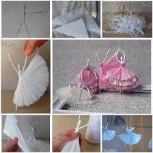 Ballerina Chandelier Diy Napkin Paper Ballerina
