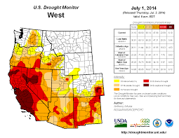 California Weather Map Drought June 2014 State Of The Climate National Centers For