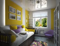 wandgestaltung für jugendzimmer wandgestaltung jugendzimmer mädchen lila akzente gelbe wandplatten