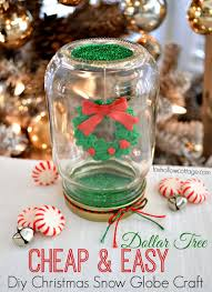 make a dollar tree mason jar christmas snow globe globe snow