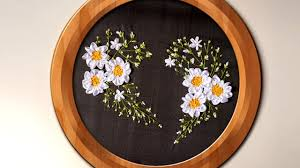 hand embroidery ribbon heart wall decorating ideas handiworks