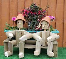 wooden garden ornaments sculptures statues ebay