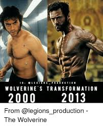 Wolverine Picture Meme - i g legion s production wolverine s transformation 2000 2013 from