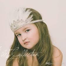 feather headbands luxury bohemia glitter crown headband feather