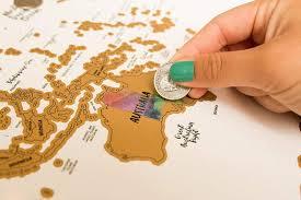 Amazon JetsetterMaps Scratch Your Travels Map Watercolor World