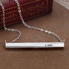 simple silver pendant necklace images 925 sterling silver unique simple happy everyday letters pendant jpg