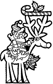 reindeer free christmas coloring pages for kids christmas