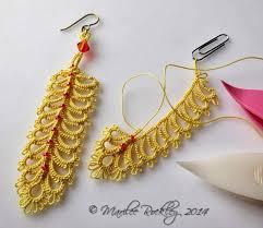 Knitted Chandelier Earrings Pattern Best 25 Tatting Earrings Ideas On Pinterest Tatting Tatting