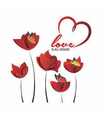 valentine days cool home wall decals for valentine decors large size of red vinyl flower removable valentine wall decals love is all around wall quote