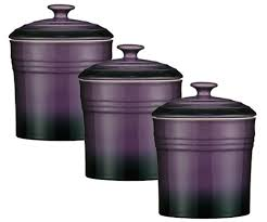 purple kitchen canister sets plum purple kitchen canister set of 3 sizes purple kitchen