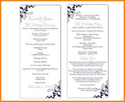 wedding programs printable 8 free printable wedding program templates word free invoice letter