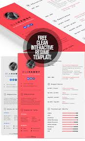 Interactive Resumes Fresh Free Resume Templates Freebies Graphic Design Junction