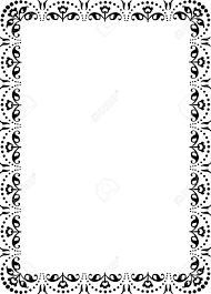 floral ornament border frame monochrome royalty free cliparts