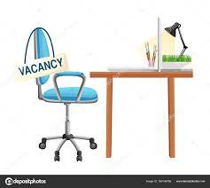 bureau recrutement composition avec chaise bureau signe vacant entreprise embauche