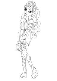 ever after high blondie locks coloring pages getcoloringpages com