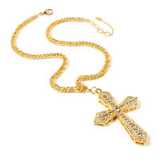crystal cross pendant necklace images Large crystal cross pendant shop amrita singh jewelry