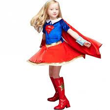 Superwoman Halloween Costumes Big Girls Red Blue Dc Super Hero Premium Supergirl Halloween
