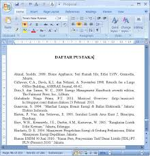 daftar pustaka merupakan format dari daftar pustaka