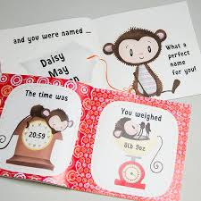baby book the day you were born personalised new baby book by fromlucy
