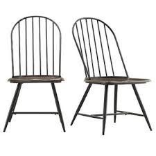 Black Metal Chairs Dining Oxford Creek Montrose Metal Wood Chair In Black Set Of