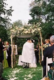 How To Make A Chuppah Birch Poles With A Tallis Cover On The Chuppah Top I Will Be