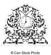 clip vector of baroque royal bed with ornaments baroque