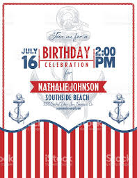 Nautical Theme by Nautical Theme Beach Party Invitation Stock Vector Art 505295710