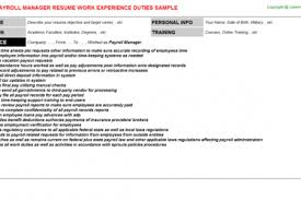 Payroll Specialist Resume Sample by Payroll Administrator Resume Reentrycorps