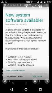 latest on moto x play nougat update lenovo community