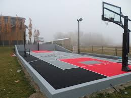 sport court calgary alberta home courts backyard game courts