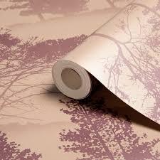 graham u0026 brown label mirage damson u0026 gold trees metallic
