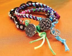 rattail cord rattail cord rhinestone chain bracelets craft ideas