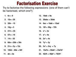 factorisation teaching resources by ryansmailes teaching